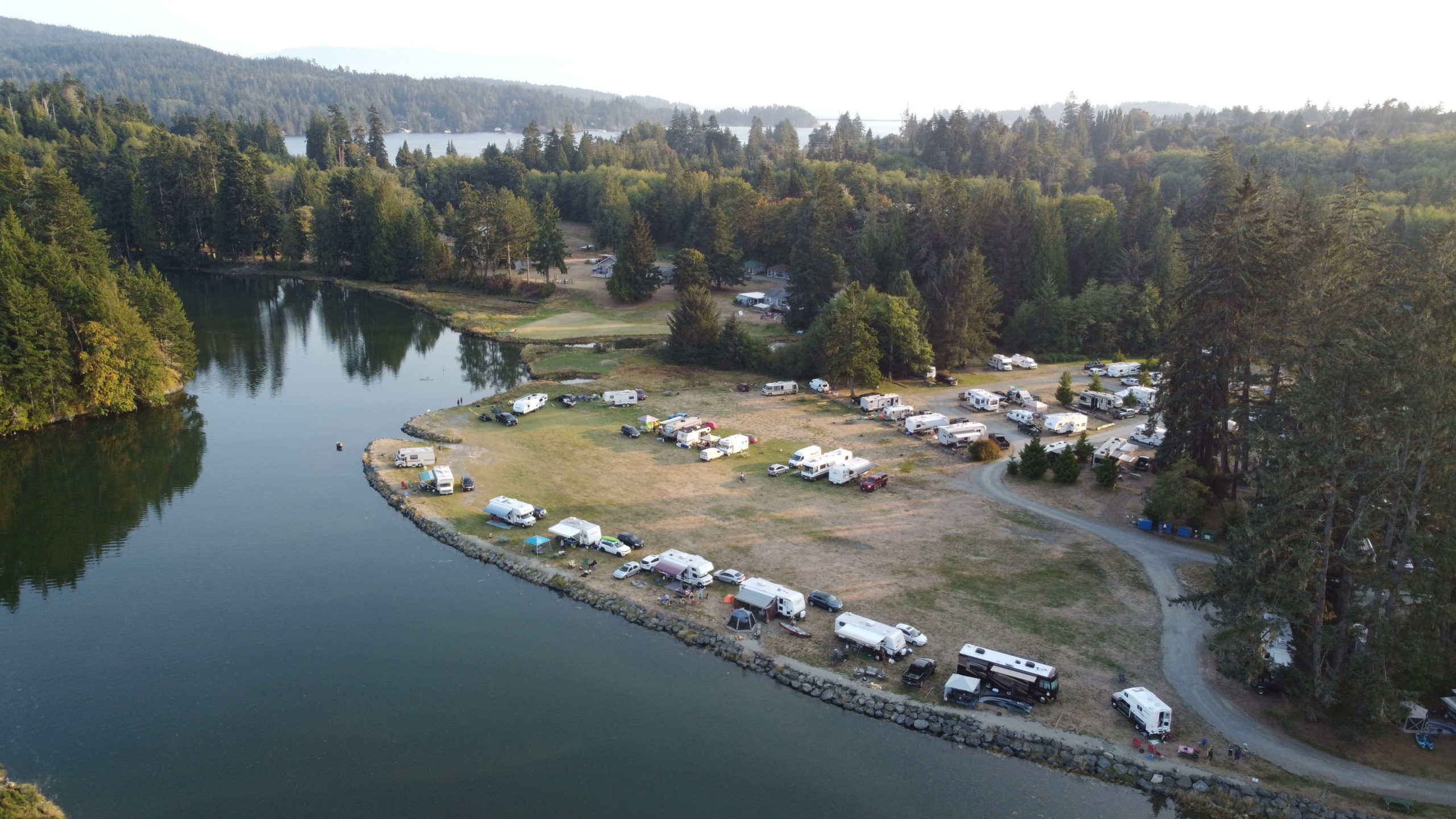 Riverside campsites